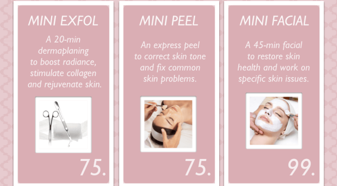 All New at SkinScience ~ Mini Treatments! (You're going to LOVE this!)