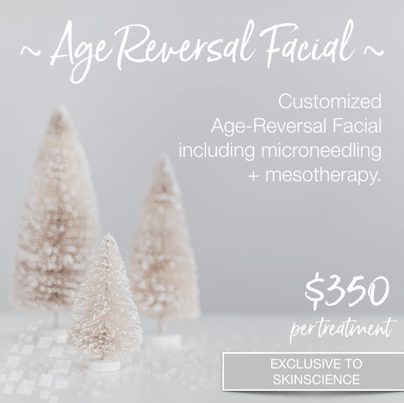 Age reversal Facial Mesotherapy Microneedling Red Light Cool Laser  Enzyme Peel